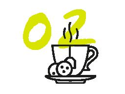 Café biscuits symbole