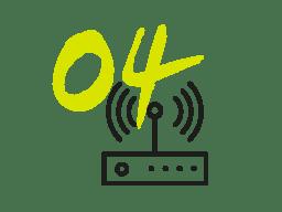 Internet haut débit symbole