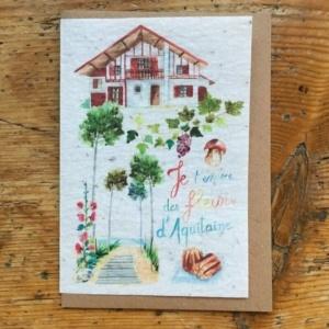 Carte à planter de Lulu Aquitaine