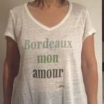 T Shirt Zazie Aatise Tea Lab 100% lin local Bordeaux