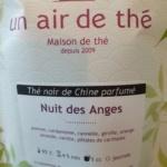 Thé vert Une air de thé Nuit des Anges
