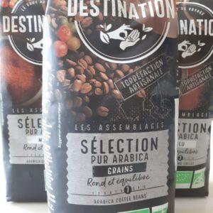 Café sélection pur Arabica en grains bio 1 kg