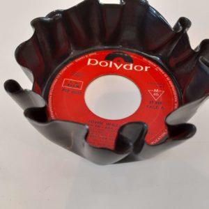 Sous-verre en vinyle 45 tours rouge