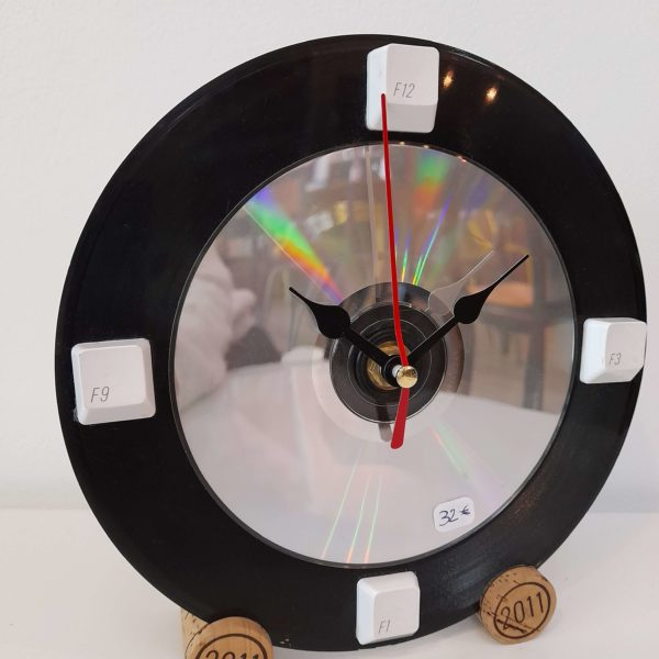 Horloge vinyle 45 tours